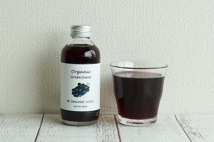 【NEW】オーガニックぶどうジュース(ストレート果汁100%)