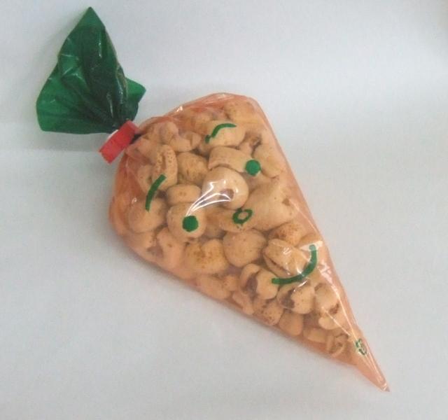 ポン菓子用人参袋(オレンジ) 200枚入