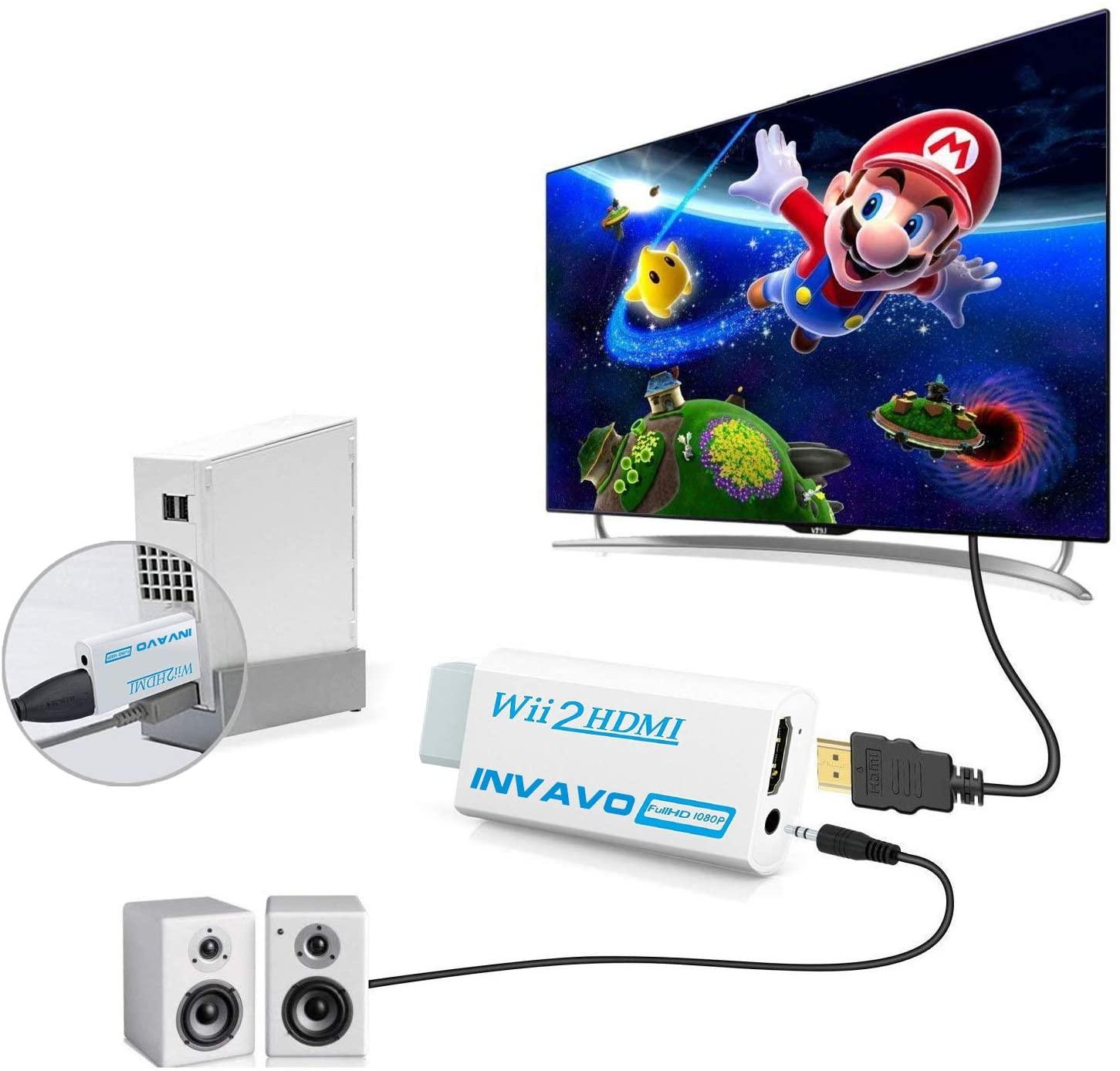 INVAVO Wii to HDMI 変換アダプターHDMI出力 携帯便利 (1.5M ハイスピードHDMIケーブル付属)