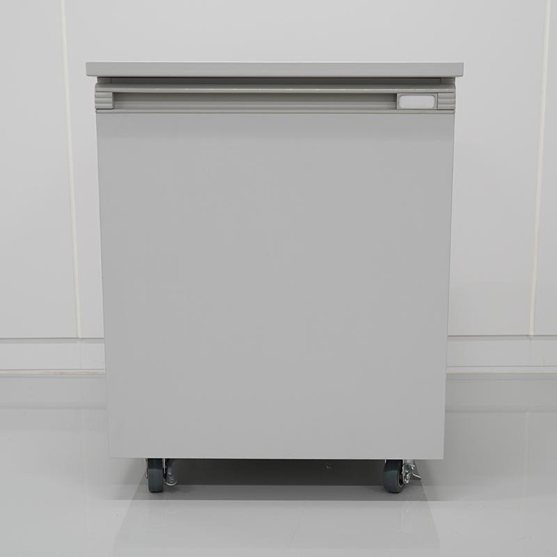 【旧モデル品】移動式ユニット 木製タイプ グレー・開き戸1段・高さ578mm仕様