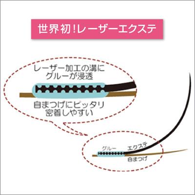 レーザーエクステ ミンクラッシュ Jカール 0.2mm×10mm