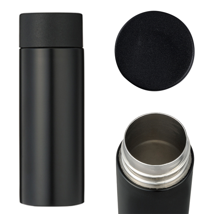 真空ステンレス ポケットボトル1本 120ml 120個セット (1c/s) 黒or白 名入れ可能 (2439451/2439551)