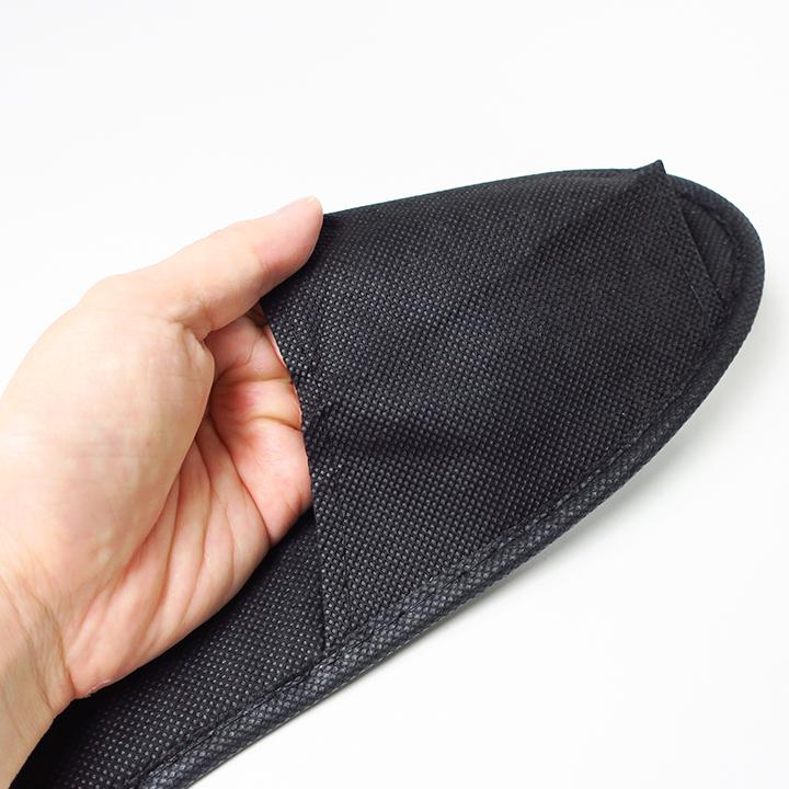 不織布スリッパ ブラック 300足 セット (1c/s)