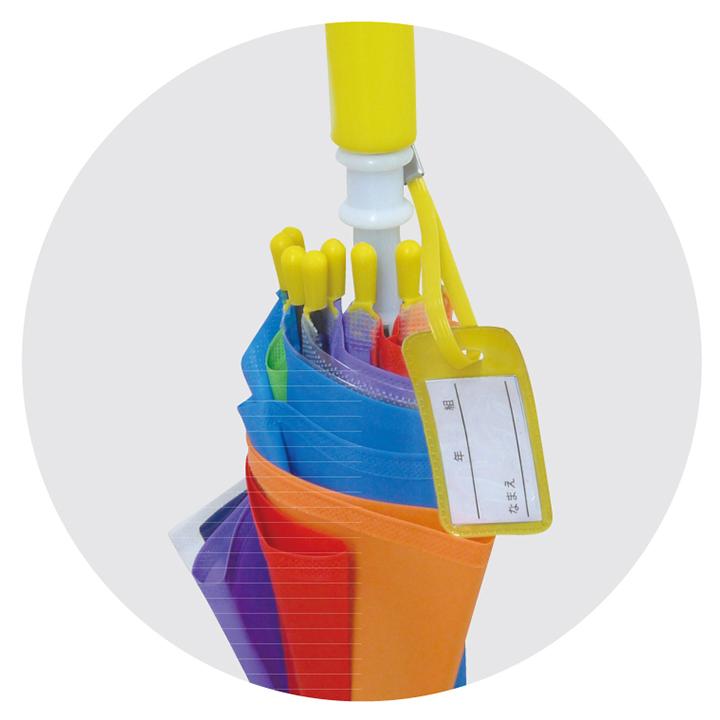 子供用傘 にじいろアンブレラ キッズ 53cm 手開き 72本セット(2c/s)[2柄を6本単位で自由に組み合わせ] (83383 83384)