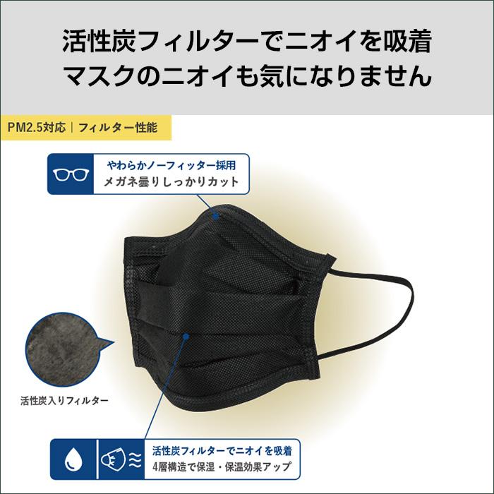BMC活性炭入り黒マスク 5枚入×200袋セット(1c/s)