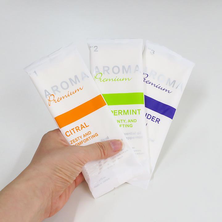 ポケットおしぼり AROMA Premium 1,800本セット (3c/s) 抗菌おしぼり 個包装