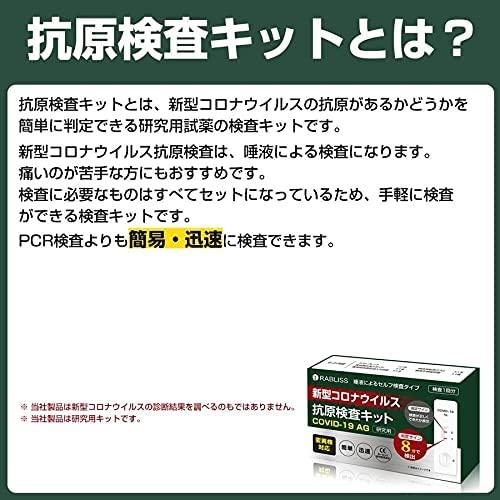 【即納】新型コロナウイルス 抗原検査キット 変異株対応 唾液検査 8分判定 セルフ検査タイプ 研究用1回分