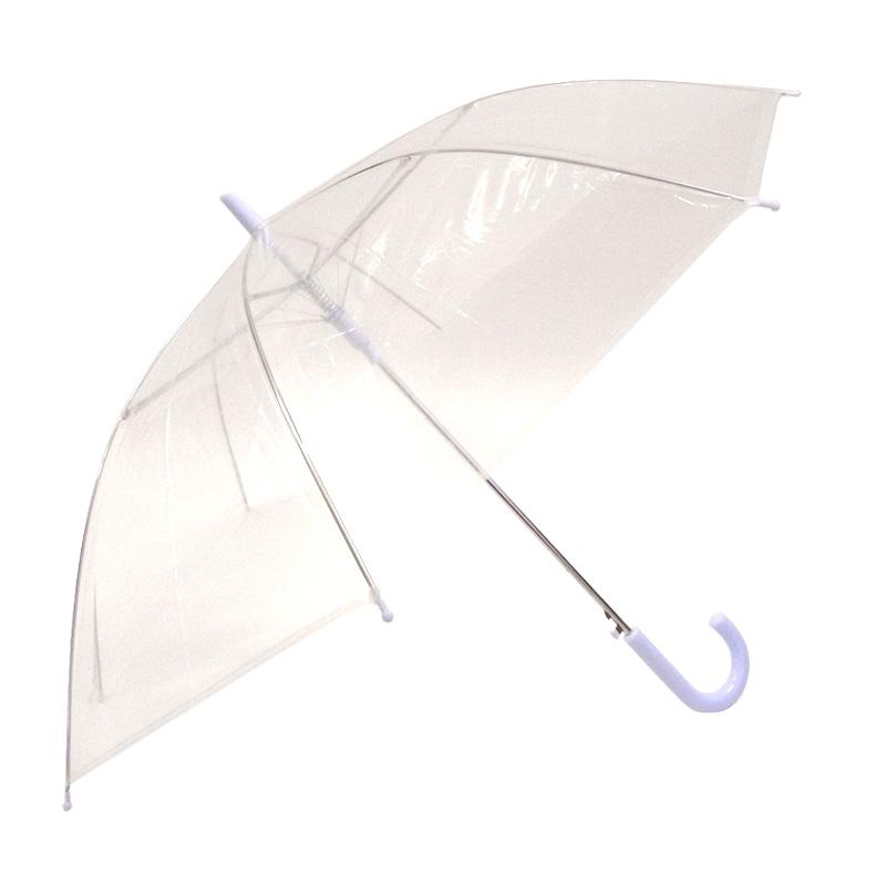 約55cmビニール傘  透明(クリア) ジャンプ式 300本セット(5ケース)