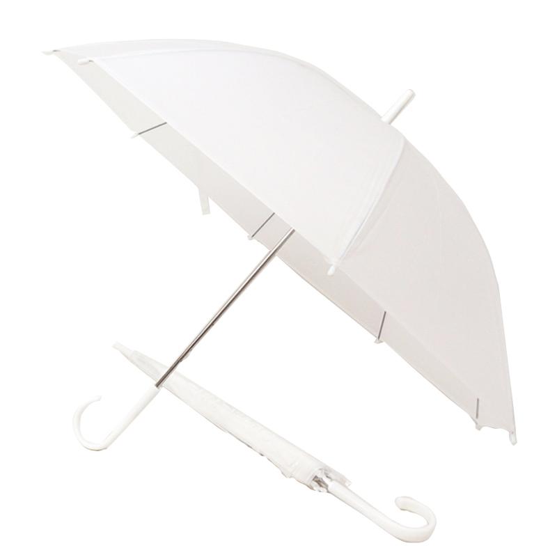 ビニール傘 50cm ホワイト 白骨 エコロジー生地 60本セット(1ケース)#505