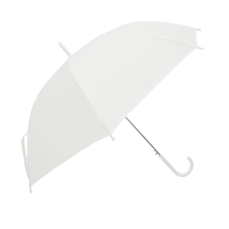 ビニール傘 60cm 乳白(エンボス) 白骨 ジャンプ式 6本セット