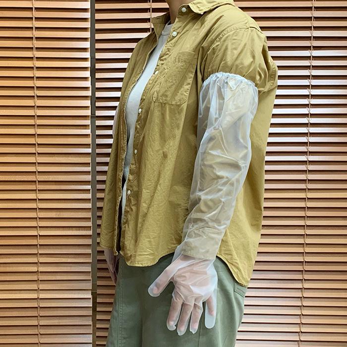 使い捨てポリロング手袋 4枚入×120袋セット(07142)