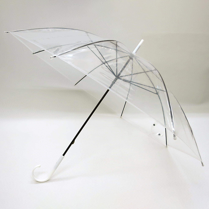 ビニール傘50cm 透明 黒骨 手開き式 120本セット(2c/s)#501