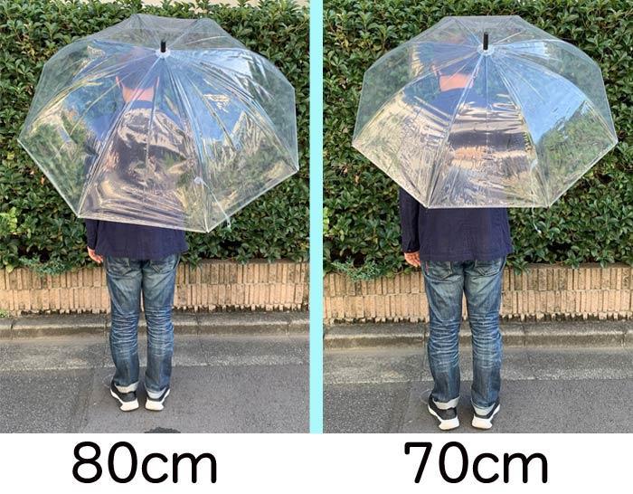 80cm ビニール傘 透明 ジャンプ式 72本セット(2c/s) 特大傘