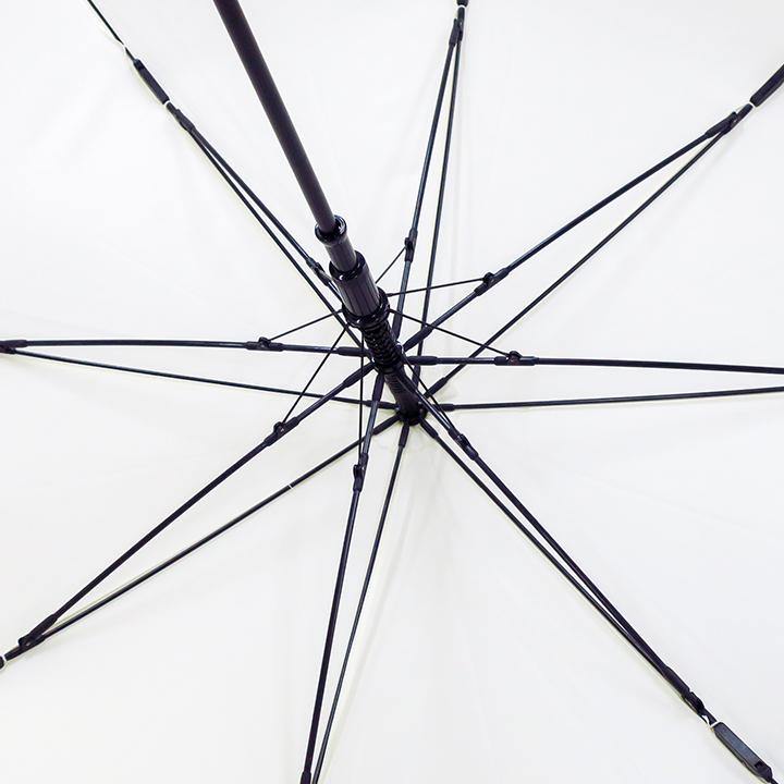 ポキッと折れるんです ホワイト 65cmジャンプ傘 ポンジー グラス ファイバー骨 40本セット(1c/s)