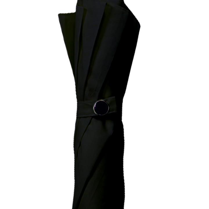 ポキッと折れるんです ブラック 65cmジャンプ傘 ポンジー グラス ファイバー骨 40本セット(1c/s)
