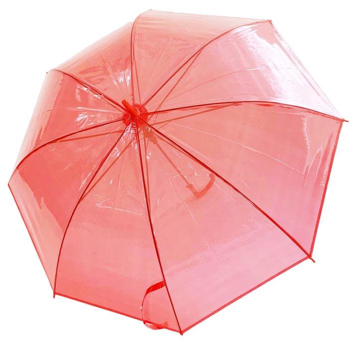 60cm カラービニール傘 赤 12本セット