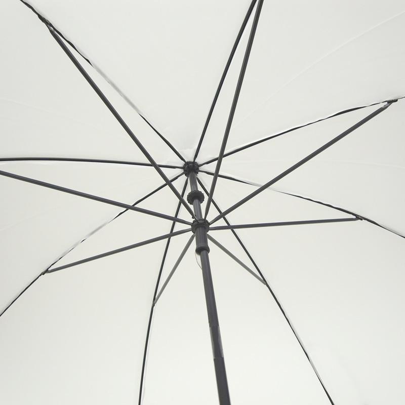 ビニール傘 50cm 乳白(エンボス) 黒骨 手開きタイプ 6本セット
