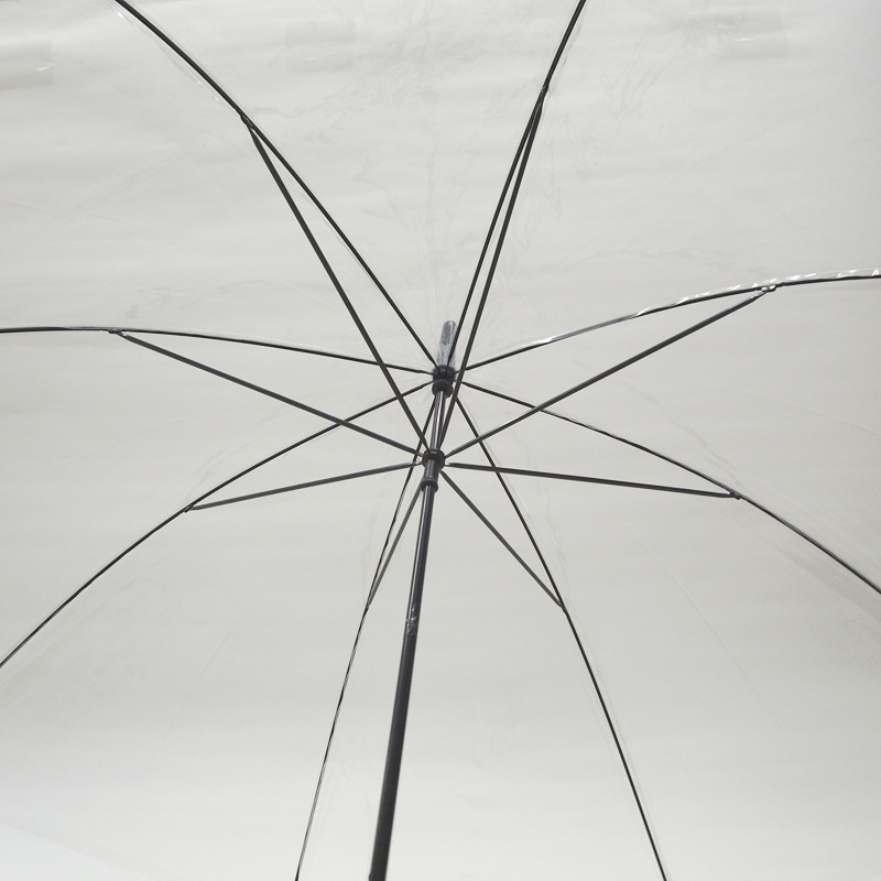ビニール傘 60cm 透明 黒骨 手開き式 600本セット(10ケース)