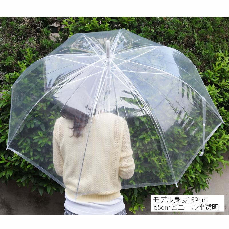 65cmビニール傘(特大サイズ) ジャンプ式 透明 白骨 48本セット(48本×1)#508