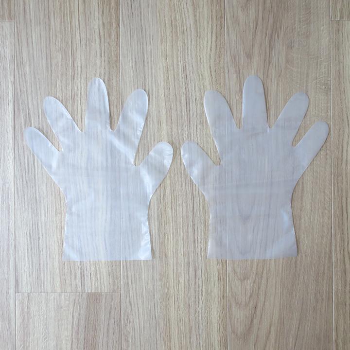 使い捨てポリ手袋10枚入×300セット(3,000枚)(07191)