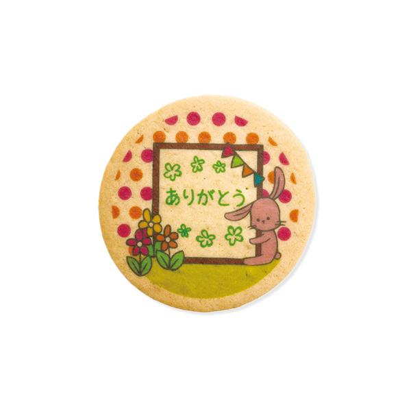 アニマルプリントクッキー くまorうさぎ ありがとう 5枚単位で組み合わせ自由 20枚セット