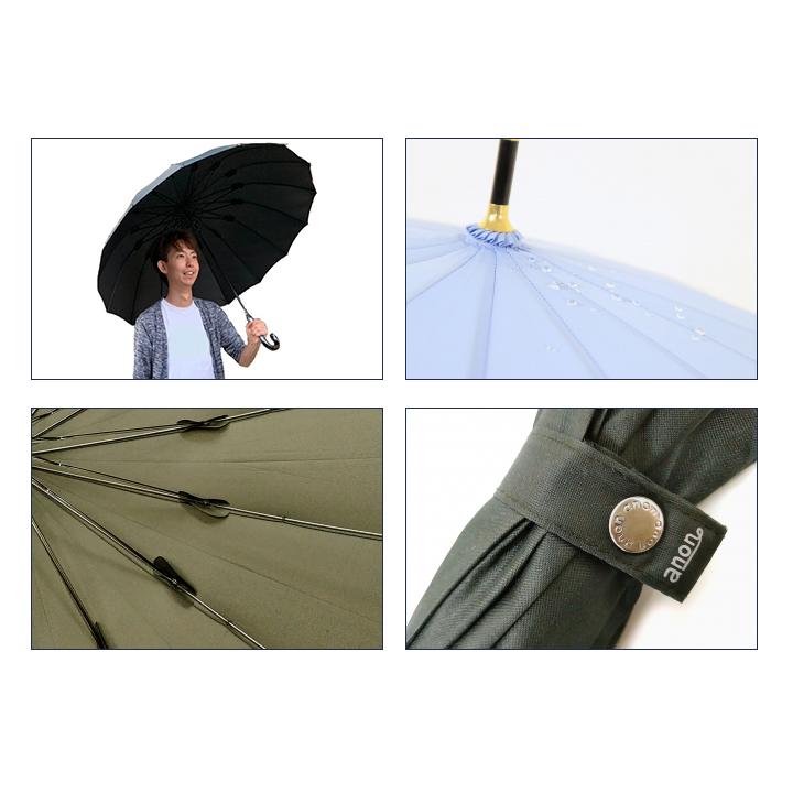 anon 65cm 16本骨 傘 トラッド 36本セット(1c/s) (ANO-105) 紳士傘