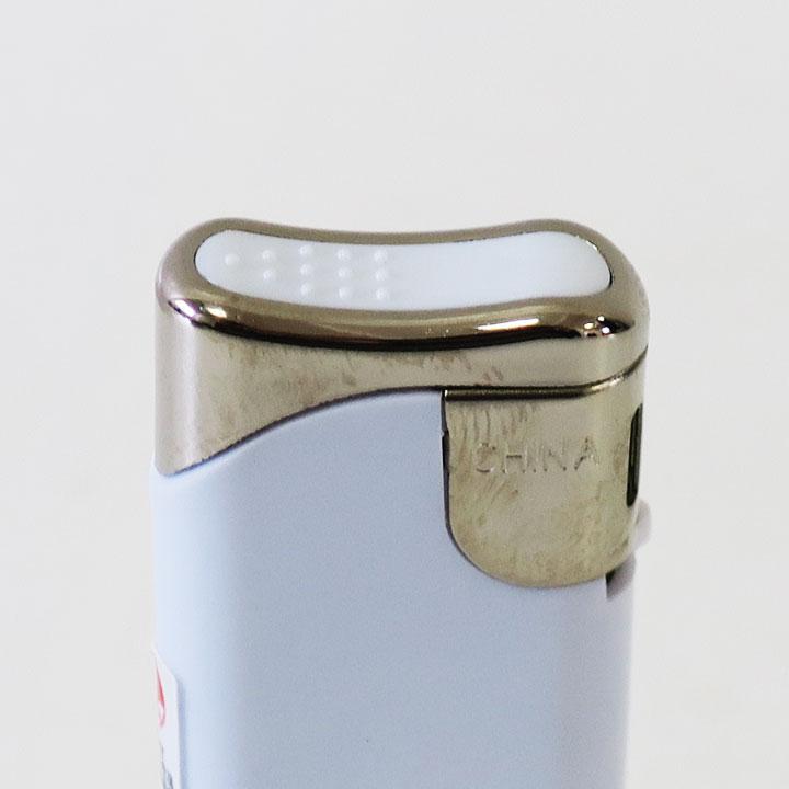 タイメリーTMJ-WS スライド式電子ライター不透明 ★白★ 300個 【両面名入れ可能ライター※別途お見積もりが必要です。】