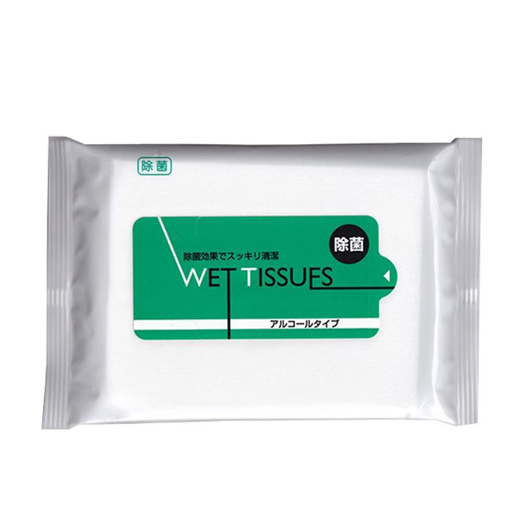 【出荷までにご注文から約6週間】除菌ウェットティッシュアルコールタイプお徳用 20枚入 200個セット(1c/s)