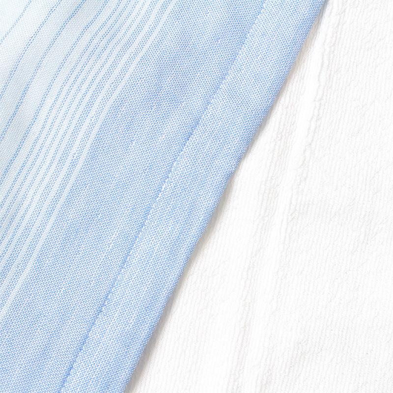 【ハイドロ銀チタン:グラデボーダー+2】フェイスタオル ブルー