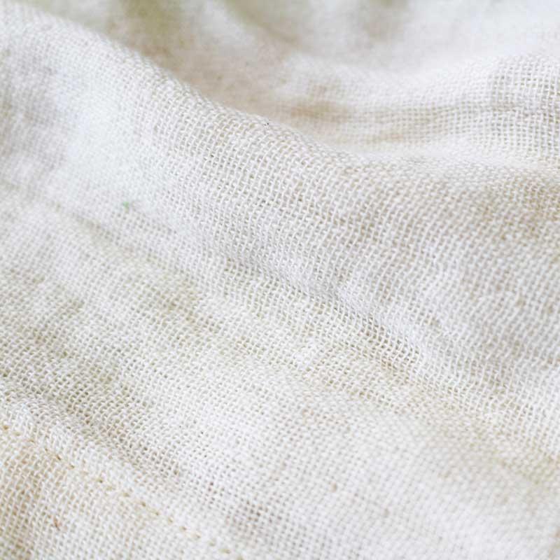 【ベビー】オーガニック 二重ガーゼロンパース(80cm)オフホワイト【送料無料】