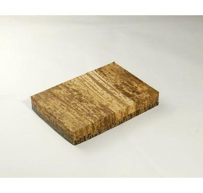 色紙 貼り箱 MXH-6-F 竹皮貼り/蓋 (本体 185×125×25mm)