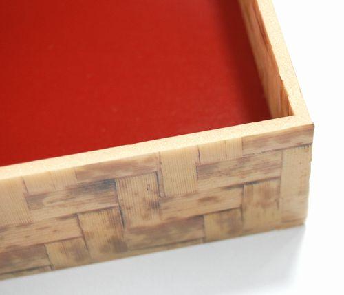 竹皮編プラ折箱POA-6H