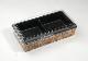 ワンプラ折TAPO-20-10-2BK(高蓋) 竹皮編柄 2つ仕切