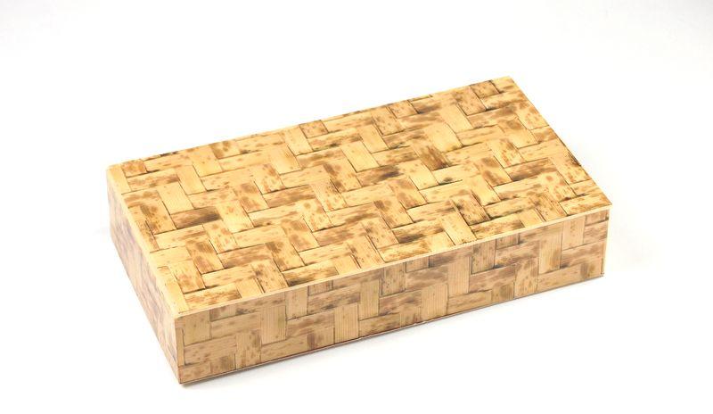 竹皮編プラ折箱 POA-211