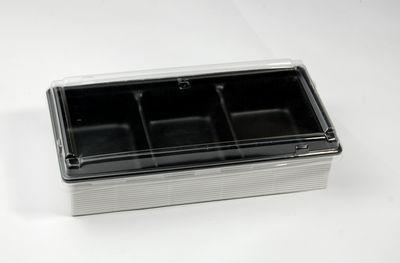 ワンプラ折WPO-20-10-3BK(高蓋) 片ダン 3つ仕切