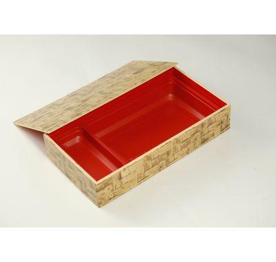 竹皮編プラ折箱POA-211 中仕切りセット