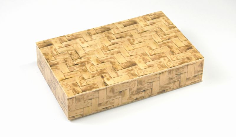 竹皮編プラ折箱POA-206