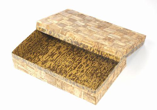 天然竹皮と紙との融合 ハイブリッド容器TXH-210H