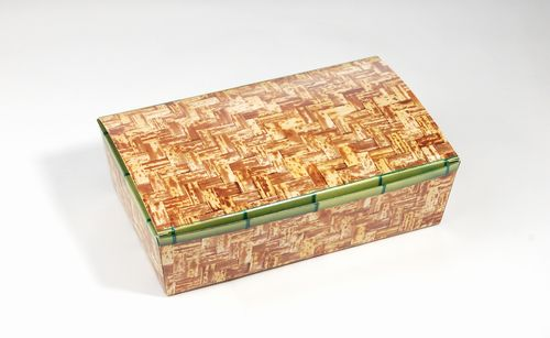 竹皮紙容器 PTAY-197HU(リアル柄) 一体型