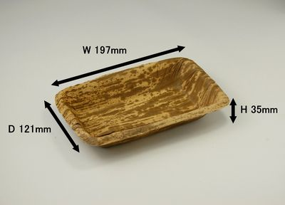 竹皮プレス容器TPY-3H