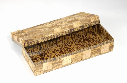 TXH-4H ハイブリッド容器 (20個パック) 竹の皮 テイクアウト 弁当/ギフト/菓子箱