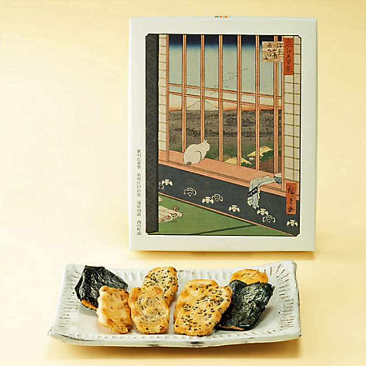 昔かきもち 格子戸 16枚 【東京国立博物館コラボ商品】