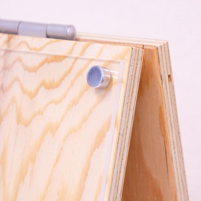 当社オリジナル 木製の卓上A型看板/POPスタンド