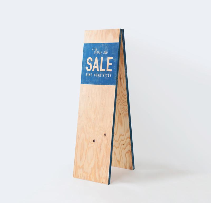 「SALE」デザイン A型看板 スリム