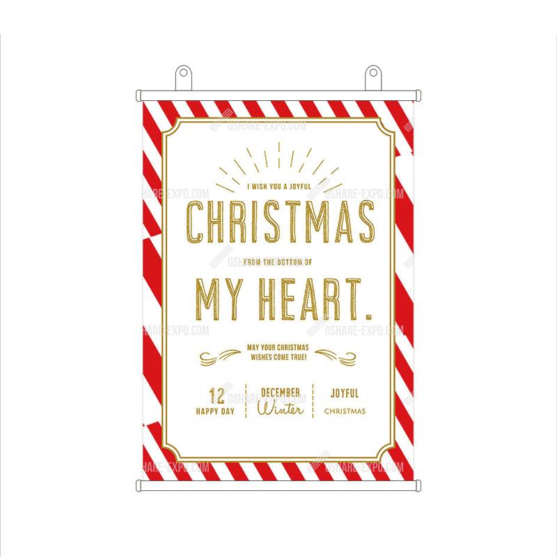 ロゼッタ風フレーム クリスマスタペストリー