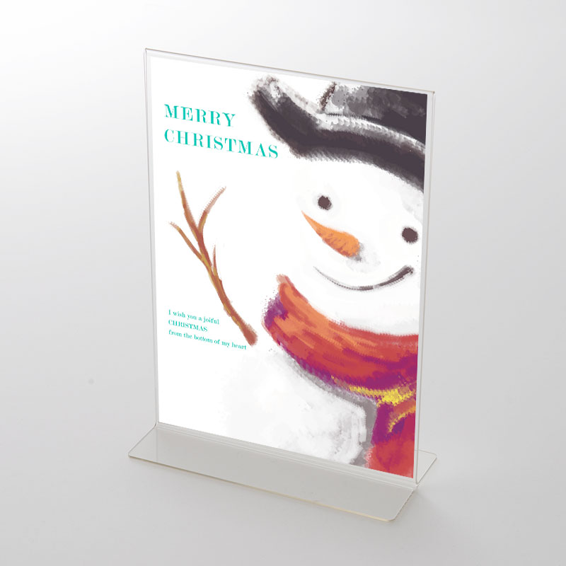 アクリルスタンドセット 雪だるまイラスト クリスマスポップ