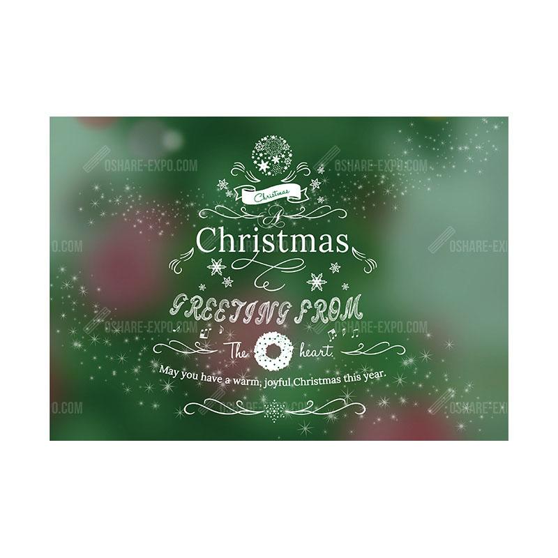 メッセージツリー クリスマス ポップ・ポスター