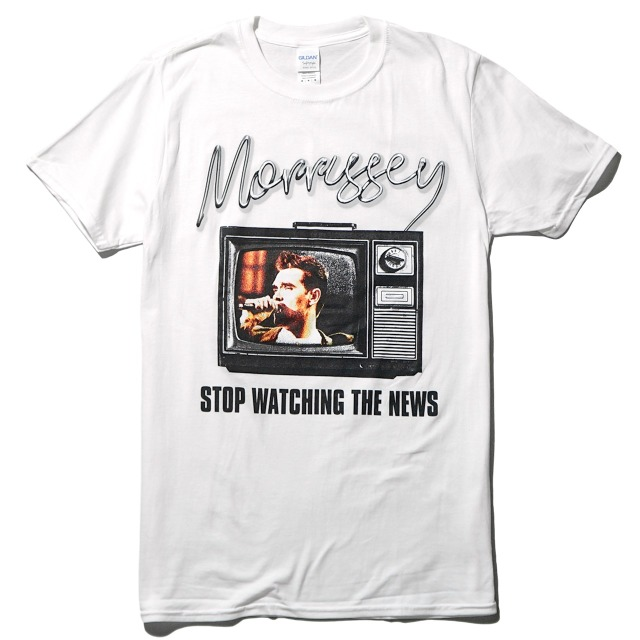 MORRISSEY(モリッシー) Tシャツ Stop Watching The News-White