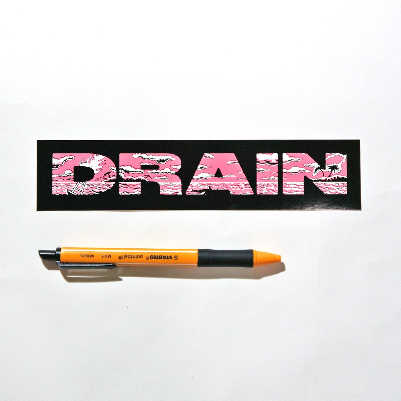DRAIN ステッカー Logo Sticker