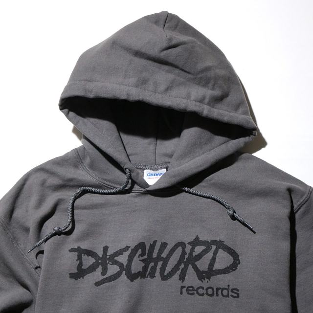 DISCHORD RECORDS パーカー/ Old Logo Hoodie - Charcoal